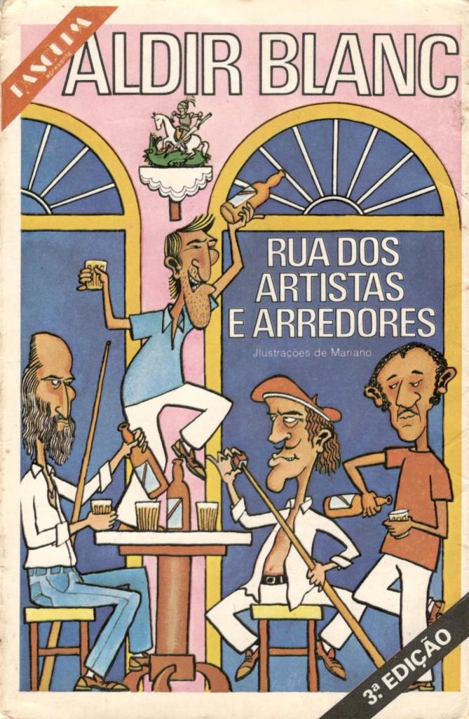 """Capa da edição da Codecri do livro """"Rua dos Artistas e arredores"""""""